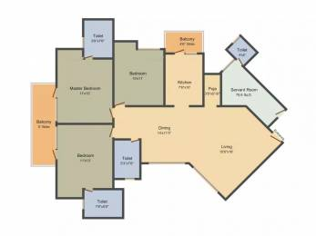 1790 sqft, 3 bhk Apartment in Mapsko Royale Ville Sector 82, Gurgaon at Rs. 80.0000 Lacs