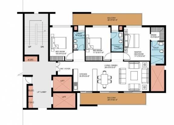 1857 sqft, 3 bhk Apartment in Puri Pranayam Sector 85, Faridabad at Rs. 66.0000 Lacs