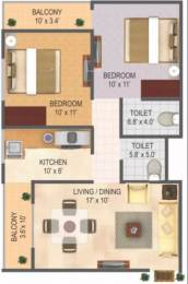 1045 sqft, 2 bhk Apartment in RAS Town Vijay Nagar, Indore at Rs. 20.0000 Lacs