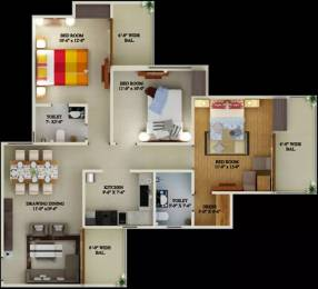 1464 sqft, 3 bhk Apartment in Supertech Eco Village 2 Sector 16B Noida Extension, Greater Noida at Rs. 9800