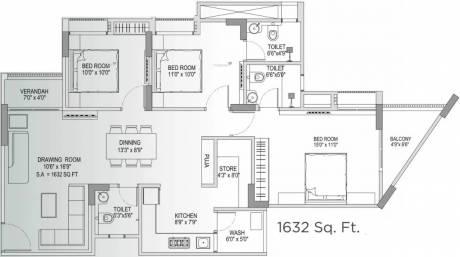 1632 sqft, 3 bhk Apartment in Yash Arian Memnagar, Ahmedabad at Rs. 76.0000 Lacs