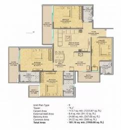 1950 sqft, 4 bhk Apartment in Gaursons 16th Park View Sector 19 Yamuna Expressway, Noida at Rs. 53.0000 Lacs