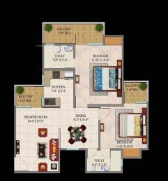 1115 sqft, 2 bhk Apartment in Charms Castle Raj Nagar Extension, Ghaziabad at Rs. 35.0000 Lacs