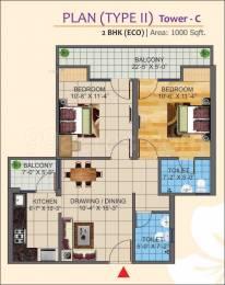 1000 sqft, 2 bhk Apartment in K World Estates Builders KW Srishti Raj Nagar Extension, Ghaziabad at Rs. 33.0000 Lacs