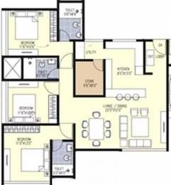 1560 sqft, 3 bhk Apartment in Sanklecha Mango One Hadapsar, Pune at Rs. 26000
