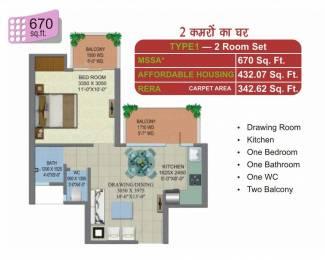 670 sqft, 1 bhk Apartment in Builder klassic homz Raj Nagar Extension Road, Ghaziabad at Rs. 14.9600 Lacs