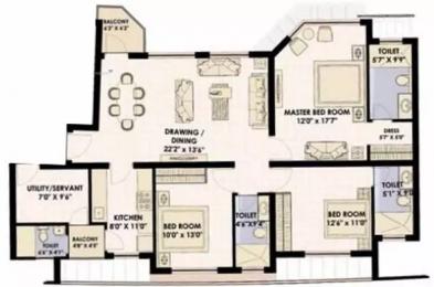 1790 sqft, 3 bhk Apartment in Jaypee Moon Court Swarn Nagri, Greater Noida at Rs. 16000