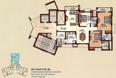 1875 sqft, 3 bhk Apartment in Uppal Plumeria Garden Estate Omicron, Greater Noida at Rs. 13500
