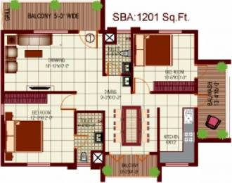 1201 sqft, 2 bhk Apartment in Mythri Arteor Begur, Bangalore at Rs. 46.8390 Lacs