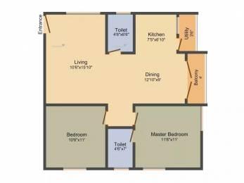 960 sqft, 2 bhk Apartment in Shri Balaji Ocean Narayanaghatta, Bangalore at Rs. 33.0000 Lacs
