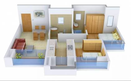 830 sqft, 2 bhk Apartment in Rustomjee Global City Virar, Mumbai at Rs. 7000