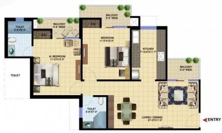 1260 sqft, 2 bhk Apartment in Paramount Golfforeste Zeta 1, Greater Noida at Rs. 45.0000 Lacs