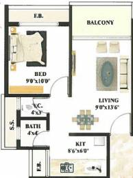 655 sqft, 1 bhk Apartment in Devkrupa Dev Residency Kharghar, Mumbai at Rs. 45.0000 Lacs
