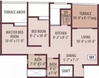 900 sqft, 2 bhk Apartment in Tirupati Vasantam Dhanori, Pune at Rs. 18000