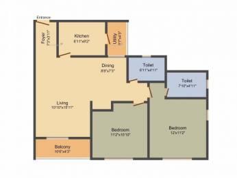 1099 sqft, 2 bhk Apartment in TATA Ariana Kalinga Nagar, Bhubaneswar at Rs. 12000