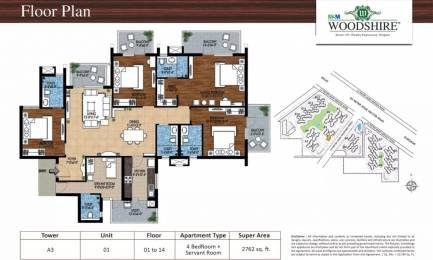 2762 sqft, 4 bhk Apartment in M3M Woodshire Sector 107, Gurgaon at Rs. 15000
