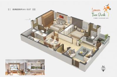 1143 sqft, 2 bhk Apartment in Builder Lemon Tree Park SVN Colony, Guntur at Rs. 41.1400 Lacs