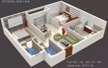 969 sqft, 2 bhk Apartment in Evos Paradise Patrapada, Bhubaneswar at Rs. 31.9440 Lacs