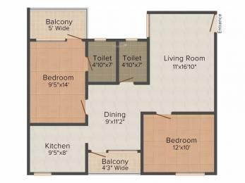 1144 sqft, 2 bhk Apartment in Acrux Realcon Pvt Ltd Acropolis Gothapatna, Bhubaneswar at Rs. 29.7400 Lacs