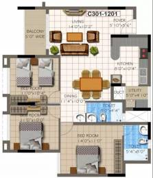 1386 sqft, 3 bhk Apartment in Supertech Micasa Kannur on Thanisandra Main Road, Bangalore at Rs. 65.8300 Lacs