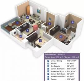 920 sqft, 2 bhk Apartment in Ram Livogue Hadapsar, Pune at Rs. 85.0000 Lacs