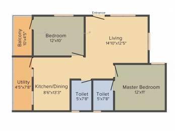 1104 sqft, 2 bhk Apartment in Bijith Krupa Devanahalli, Bangalore at Rs. 35.0000 Lacs
