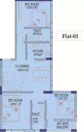 1295 sqft, 3 bhk Apartment in Siddha Xanadu Condominium Rajarhat, Kolkata at Rs. 12000