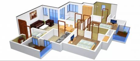 1400 sqft, 3 bhk Apartment in Urbtech Xaviers Sector 168, Noida at Rs. 13000