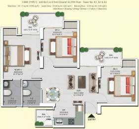 1095 sqft, 3 bhk Apartment in Shri Radha Sky Park Sky Garden Phase 2 Sector 16B Noida Extension, Greater Noida at Rs. 35.0000 Lacs