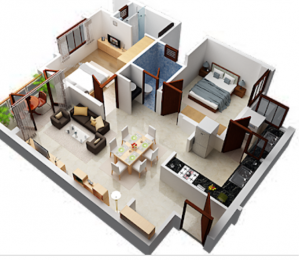 700 sqft, 2 bhk Apartment in Builder Project Baguihati, Kolkata at Rs. 20.0000 Lacs