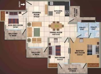 1450 sqft, 3 bhk Apartment in Panchsheel Wellington Crossing Republik, Ghaziabad at Rs. 51.0000 Lacs