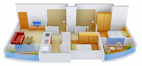 995 sqft, 2 bhk Apartment in 9 Square Vasudev Planet Mira Road East, Mumbai at Rs. 69.0000 Lacs