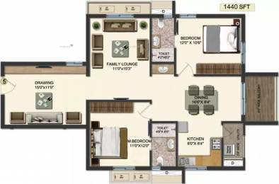 1440 sqft, 2 bhk Apartment in Accurate Wind Chimes Narsingi, Hyderabad at Rs. 73.3000 Lacs