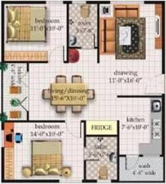 1108 sqft, 2 bhk Apartment in CBR Prakruthi Hennur, Bangalore at Rs. 19000