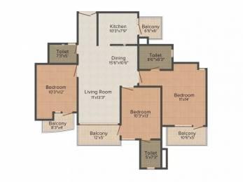 1690 sqft, 3 bhk Apartment in Mapsko Casa Bella Sector 82, Gurgaon at Rs. 87.0000 Lacs