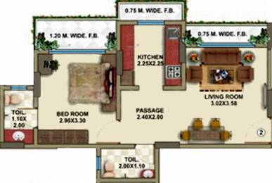 700 sqft, 1 bhk Apartment in Hirani Vishal Enclave Dahisar, Mumbai at Rs. 86.0000 Lacs