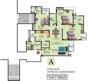 1740 sqft, 3 bhk Apartment in Ashadeep Green Avenue Jagatpura, Jaipur at Rs. 11000