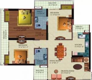 1700 sqft, 3 bhk Apartment in Paramount Orchid Crossing Republik, Ghaziabad at Rs. 50.0000 Lacs