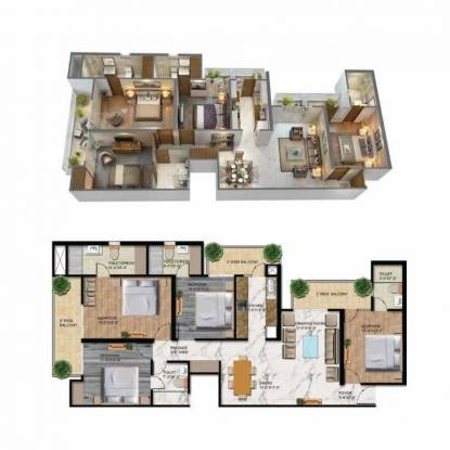 1950 sqft, 4 bhk Apartment in T and T T Homes Siddhartha Vihar, Ghaziabad at Rs. 82.0000 Lacs