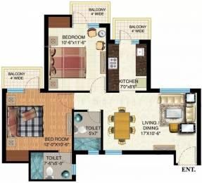 1050 sqft, 2 bhk Apartment in Mapsko Paradise Sector 83, Gurgaon at Rs. 56.0000 Lacs