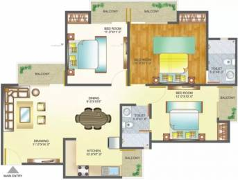 1385 sqft, 3 bhk Apartment in Amrapali Pan Oasis Sector 70, Noida at Rs. 17000