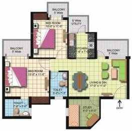 1180 sqft, 2 bhk Apartment in Amrapali Silicon City Sector 76, Noida at Rs. 14000