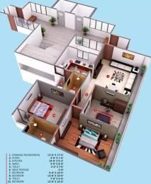 1440 sqft, 3 bhk Apartment in Aaryan Gloria Bopal, Ahmedabad at Rs. 18000