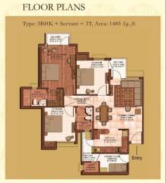1485 sqft, 3 bhk Apartment in Earthcon Casa Royale Sector 1 Noida Extension, Greater Noida at Rs. 52.5150 Lacs