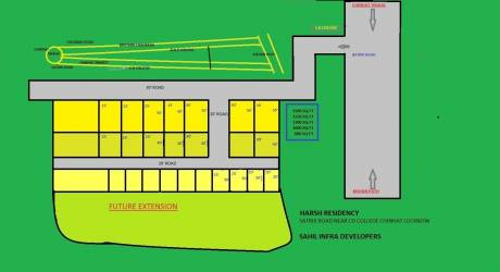 600 sqft, 1 bhk IndependentHouse in Builder HARSH RESIDENCY NEAR FAIZABAD ROAD Chinhat, Lucknow at Rs. 26.5000 Lacs
