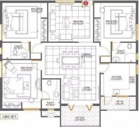 1895 sqft, 3 bhk Apartment in Sri Aditya Sunshine Hitech City, Hyderabad at Rs. 36000