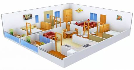 1800 sqft, 3 bhk Apartment in Vasavi Shanthinikethan Hitech City, Hyderabad at Rs. 41000