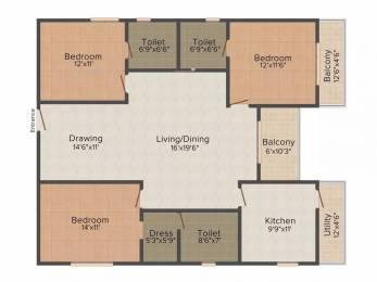 1815 sqft, 3 bhk Apartment in Niharika Exotica Manikonda, Hyderabad at Rs. 35000