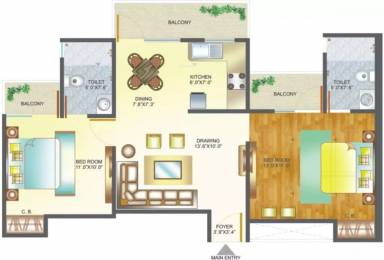 995 sqft, 2 bhk Apartment in Amrapali Pan Oasis Sector 70, Noida at Rs. 13000