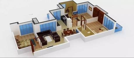 1390 sqft, 3 bhk Apartment in Amrapali Sapphire Sector 45, Noida at Rs. 20000